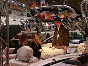 Boat show shopper